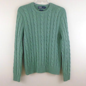 Polo Ralph Lauren Tussah Silk Cable Knit Sweater L
